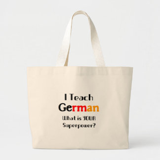 Teach german large tote bag