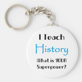 Teach history basic round button key ring