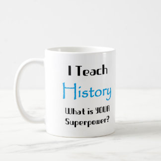 Teach history basic white mug