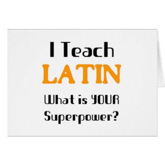 Teach Latin Card