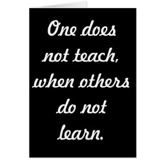 Teach & learn cards