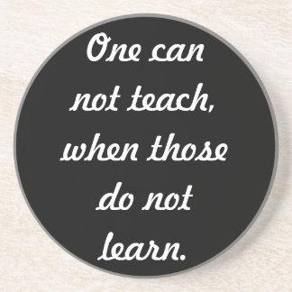 Teach & learn drink coaster
