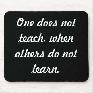 Teach & learn mouse pad
