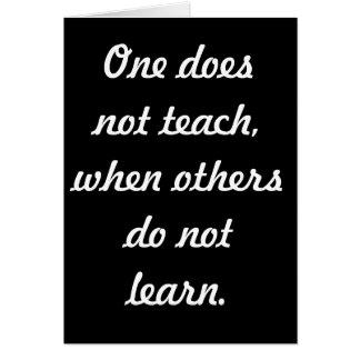 Teach & learn note card