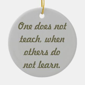 Teach & learn round ceramic decoration