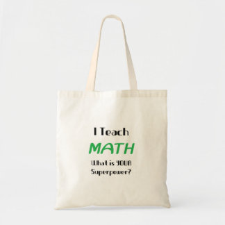 Teach math budget tote bag