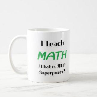 Teach math classic white coffee mug
