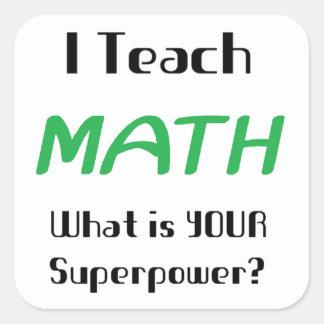 Teach math square sticker