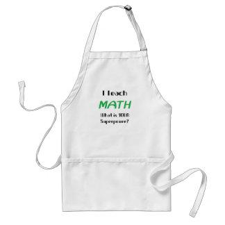 Teach math standard apron
