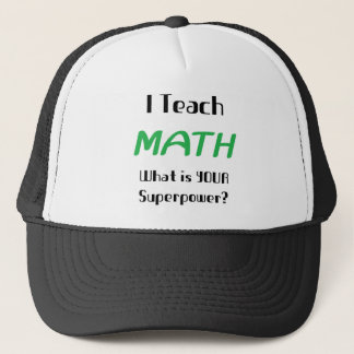 Teach math trucker hat