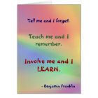 Teach Me Franklin Quote Card