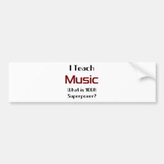 Teach music bumper sticker
