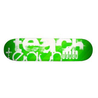 Teach; Neon Green Stripes 20 Cm Skateboard Deck