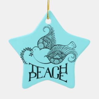 Teach Peace Christmas/Hanukkah Ornament