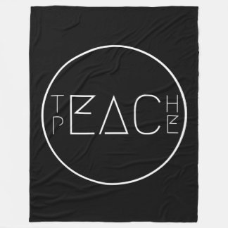 Teach Peace Fleece Blanket