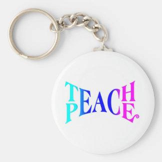 Teach Peace Good Vibes! Key Ring