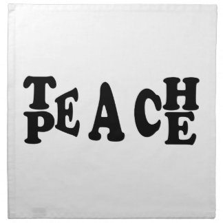Teach Peace Napkin