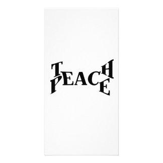 Teach Peace Photo Greeting Card