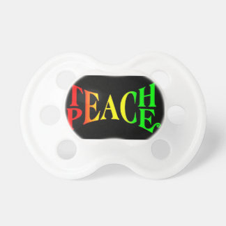 Teach Peace Rasta Baby Pacifier