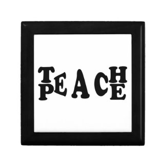 Teach Peace Small Square Gift Box