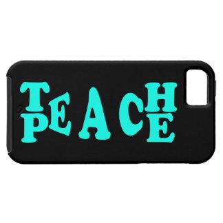 Teach Peach In Light Blue Font iPhone 5 Cover