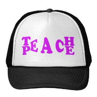 Teach Peach In Purple Font Cap