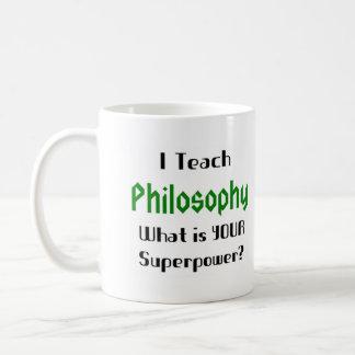 Teach philosophy basic white mug