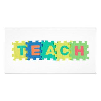 Teach Customized Photo Card