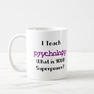 Teach psychology basic white mug