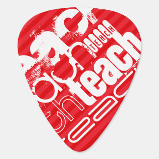 Teach; Scarlet Red Stripes Guitar Pick