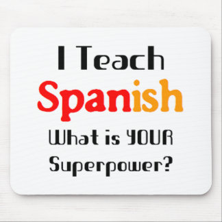 Teach spanish mouse mat