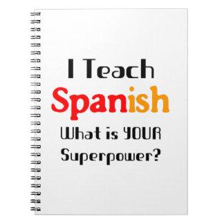 Teach spanish notebook