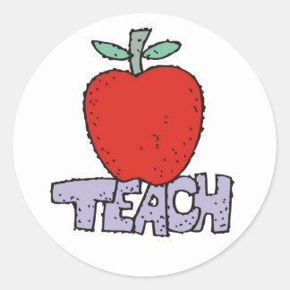 Teach. Classic Round Sticker