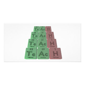 Teach-Te-Ac-H-Tellurium-Actinium-Hydrogen png Personalized Photo Card