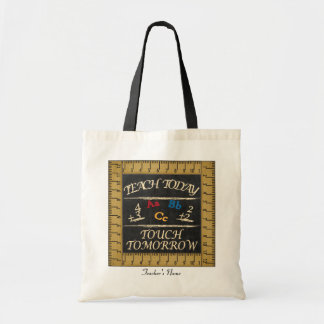 Teach Today, Touch Tomorrow Vintage Style Budget Tote Bag