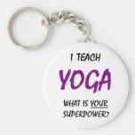 Teach yoga key chains