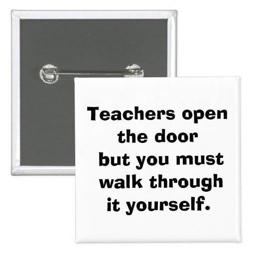 teacher 15 cm square badge