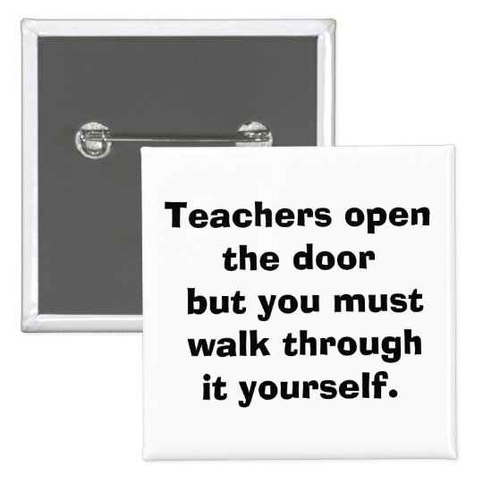 teacher 15 cm square badge
