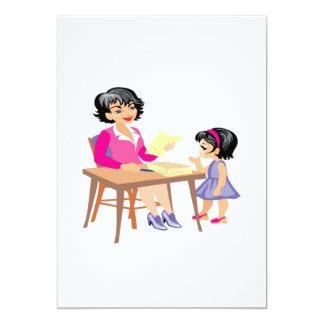 Teacher and Student 13 Cm X 18 Cm Invitation Card