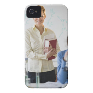 Teacher and student in science lab Case-Mate iPhone 4 case