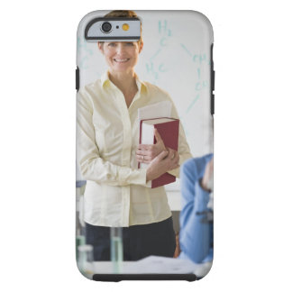 Teacher and student in science lab tough iPhone 6 case