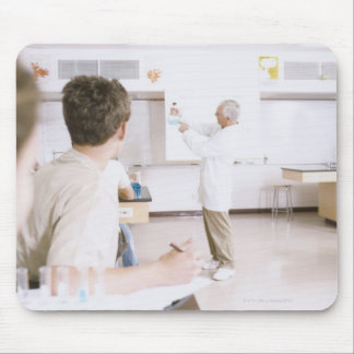Teacher and Students in Lab 2 Mouse Mat