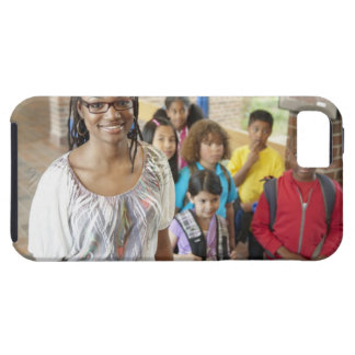 Teacher and students in school hallway case for the iPhone 5