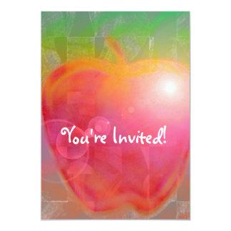 """Teacher Apple 5"""" X 7"""" Invitation Card"""