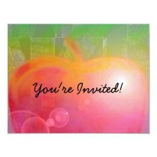 """Teacher Apple 4.25"""" X 5.5"""" Invitation Card"""