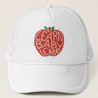 Teacher Apple Learn Baby Learn School Typography Trucker Hat