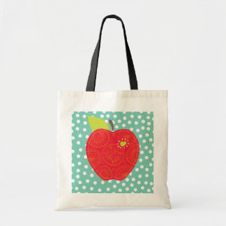 teacher Apple Patch with pokadots bag