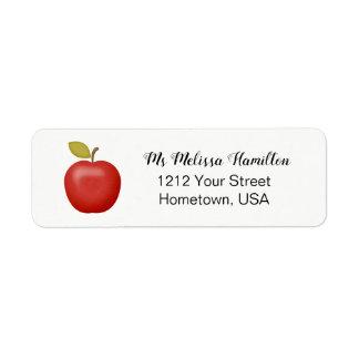 Teacher Apple Return Address Label