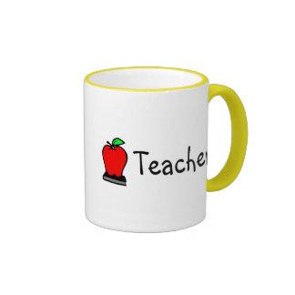Teacher Apple Ringer Mug