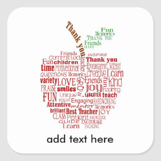 Teacher Apple Thank you sticker